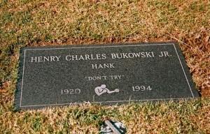 Bukowski's grave